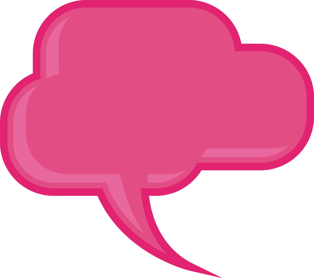 Pink Chat Bubble Vector