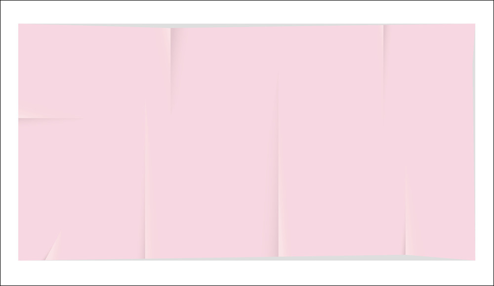 Pink Creased Paper