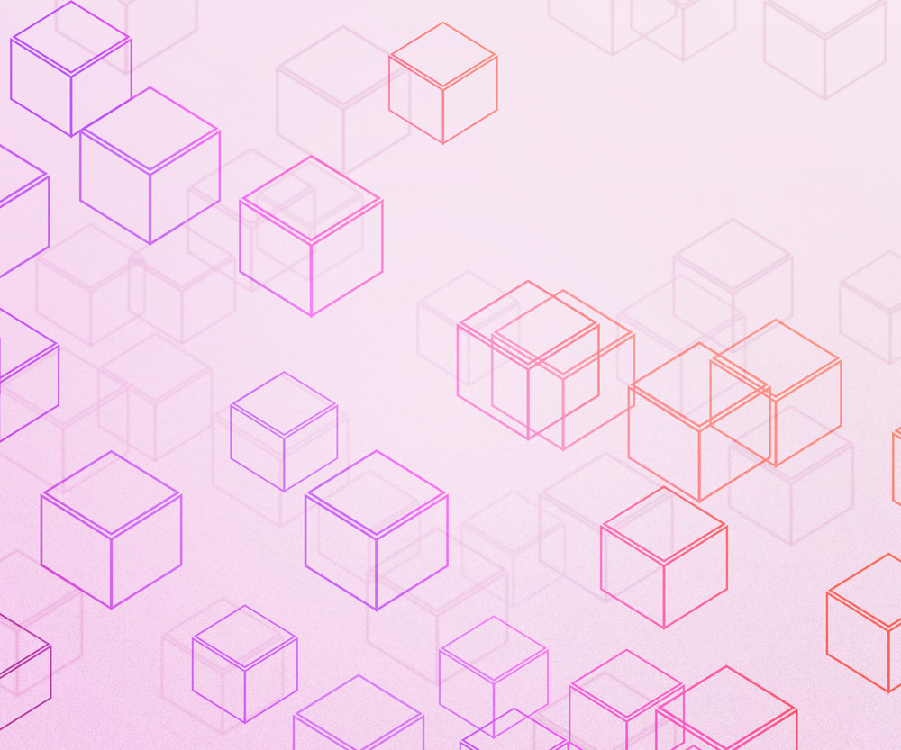 Pink Cubes Background