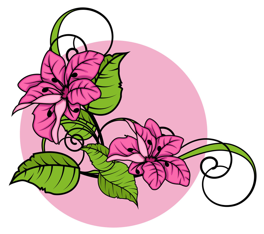 Pink Daisies Flourish Corner
