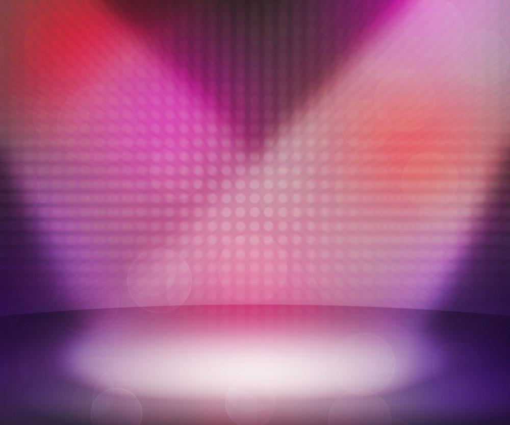 Pink Dark Spotlights Room