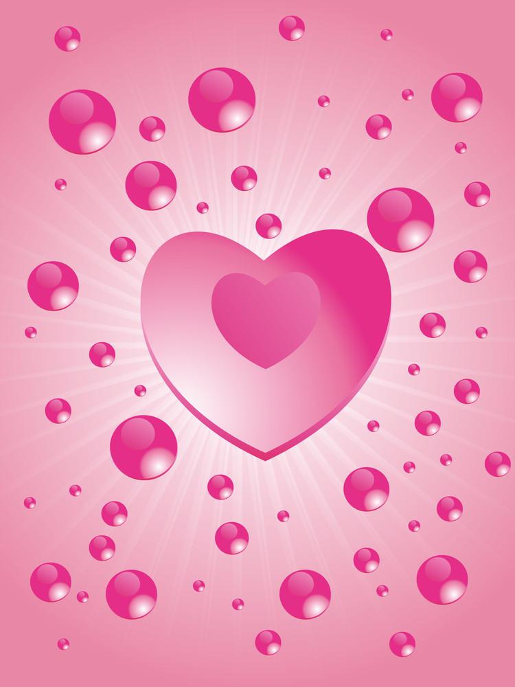 Pink Design Love Background