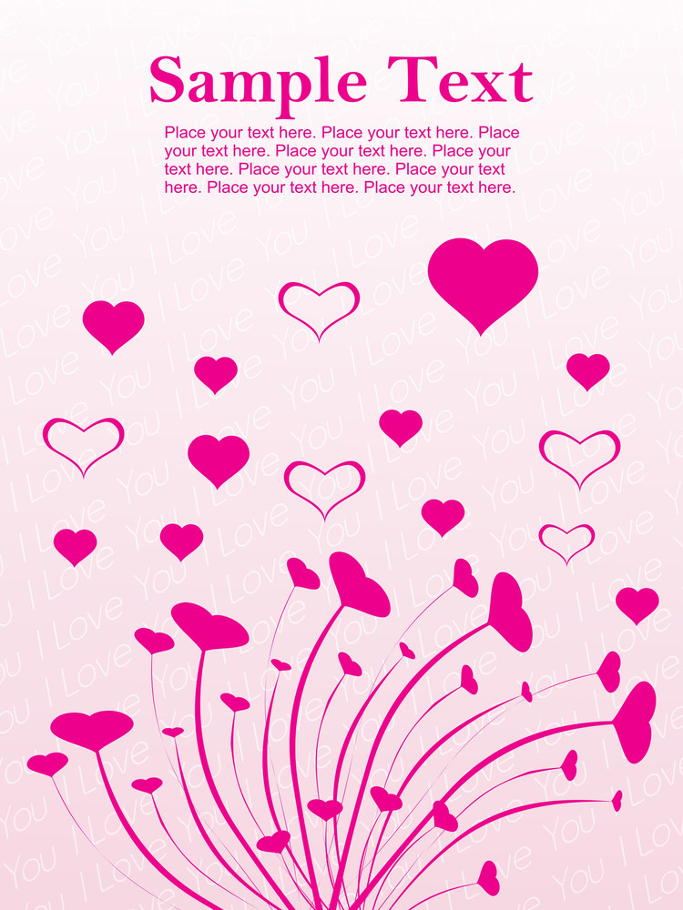 Pink Design With Swirl Illustration