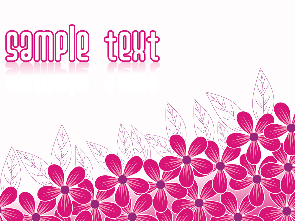 Pink Flower Background With Place For Text