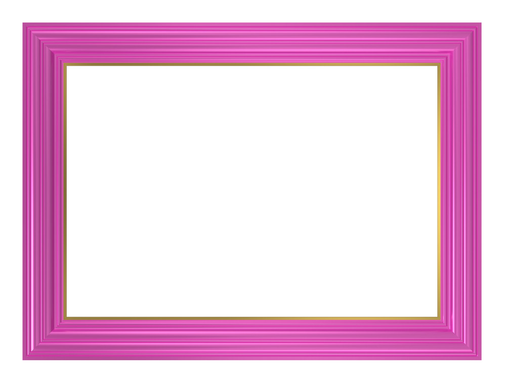 Pink Frame Isolated On White Background.