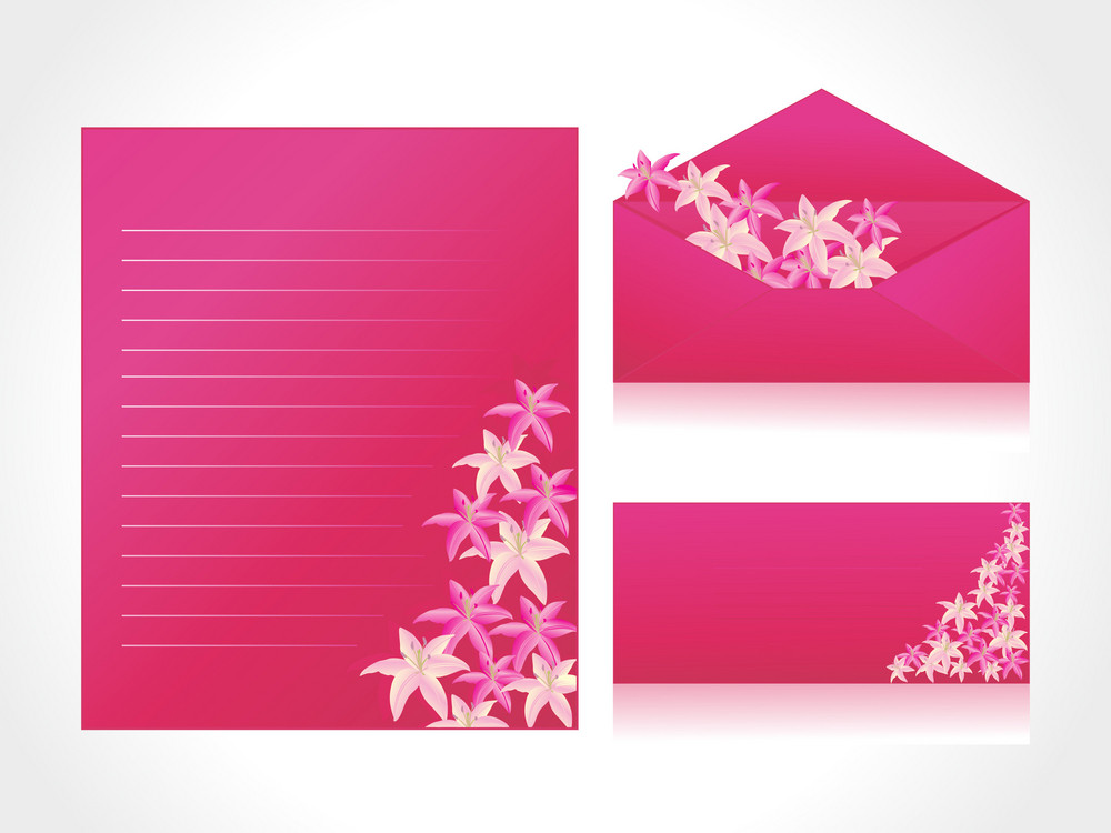 Pink Letter Of Floral Background