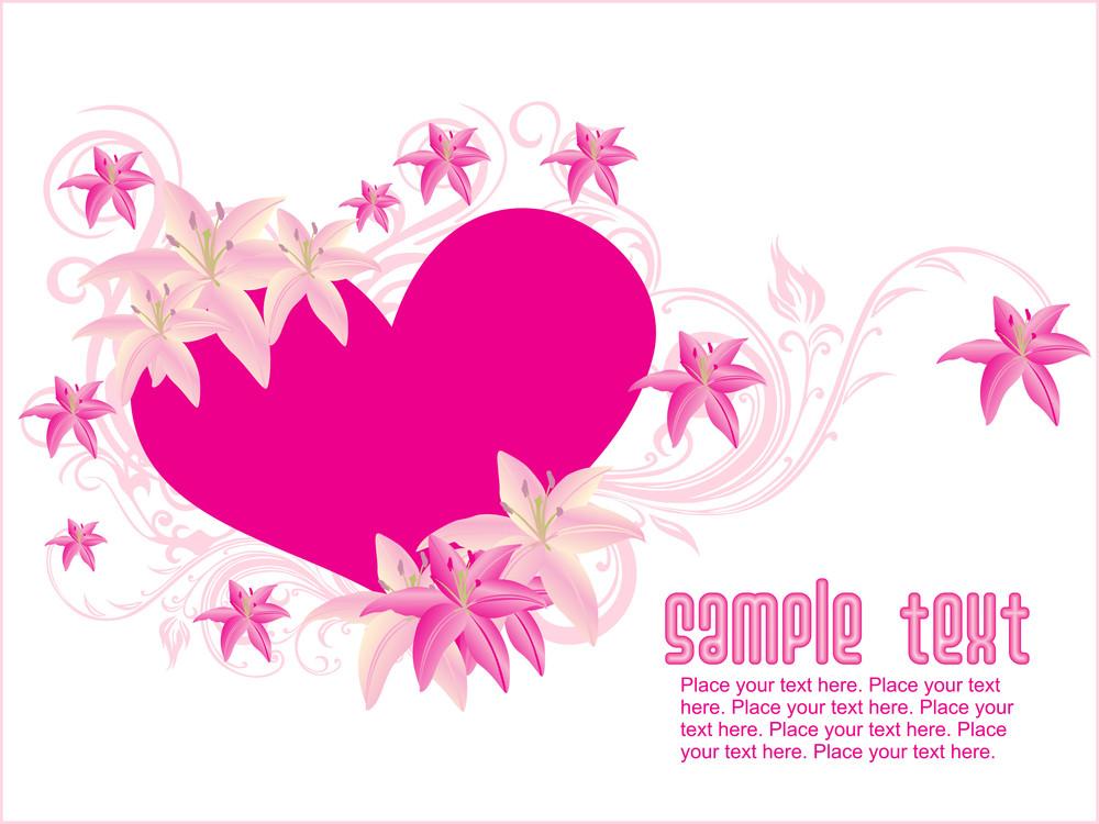 Pink Love Flower Background