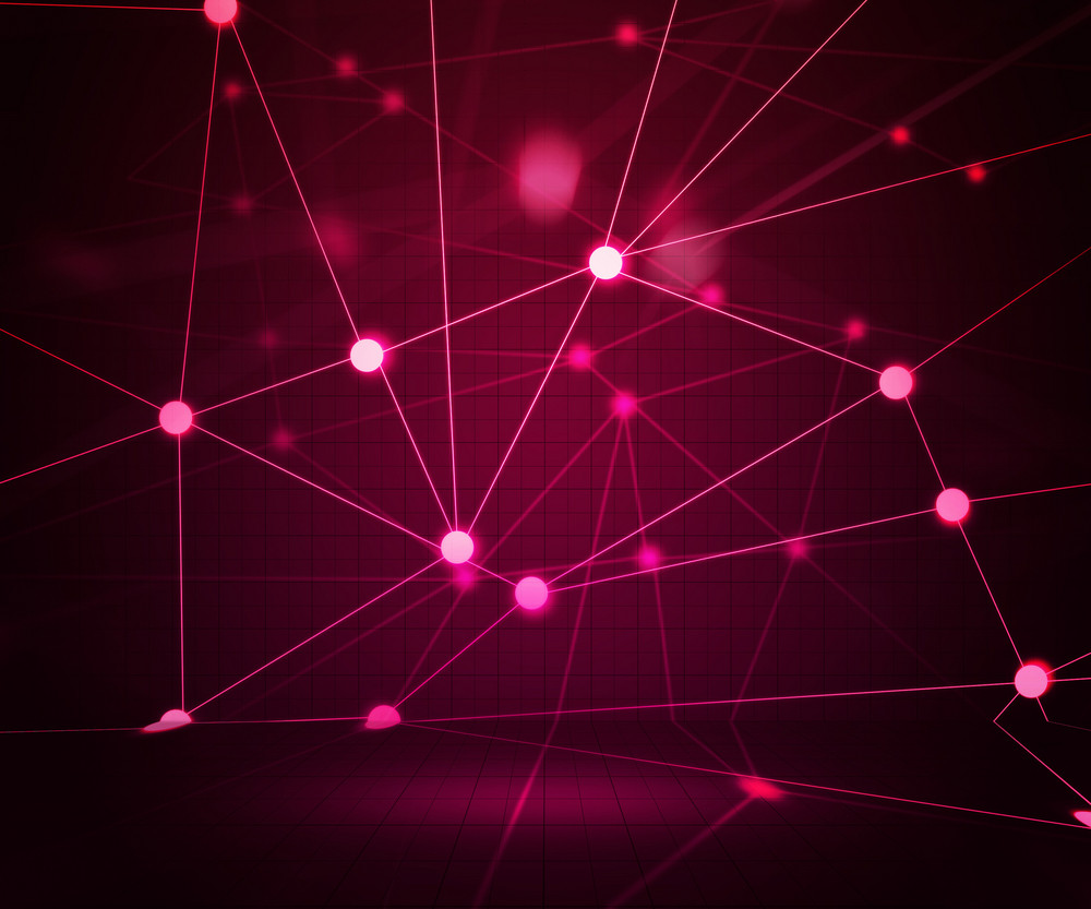 Pink Network Stage Background