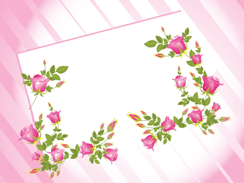 Pink Oblique Line Background With Letterpad