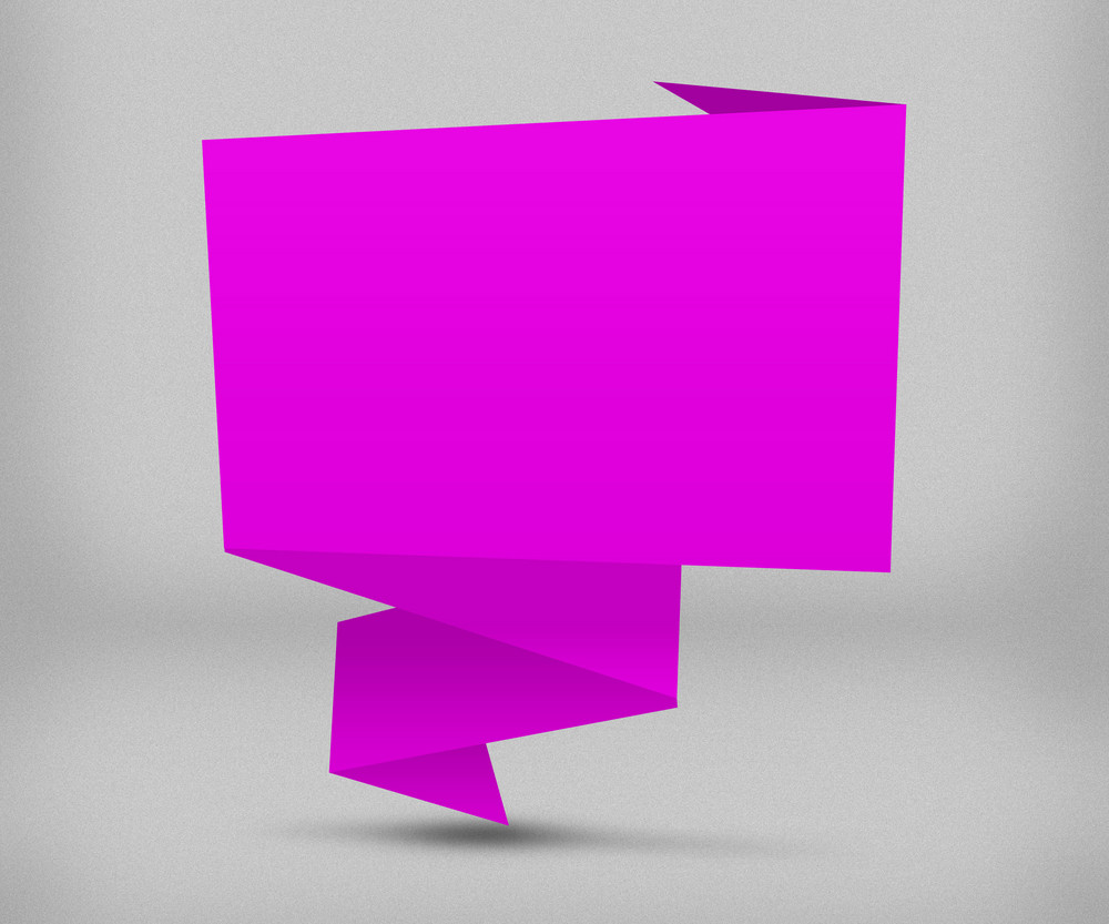 Pink Origami Background