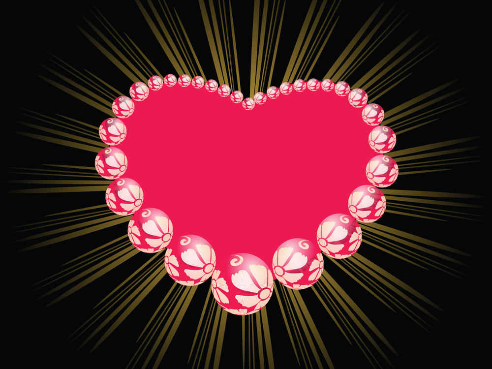 Pink Ornate Pattern Heart