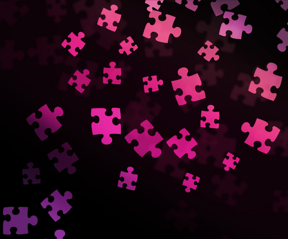 Pink Puzzle Background