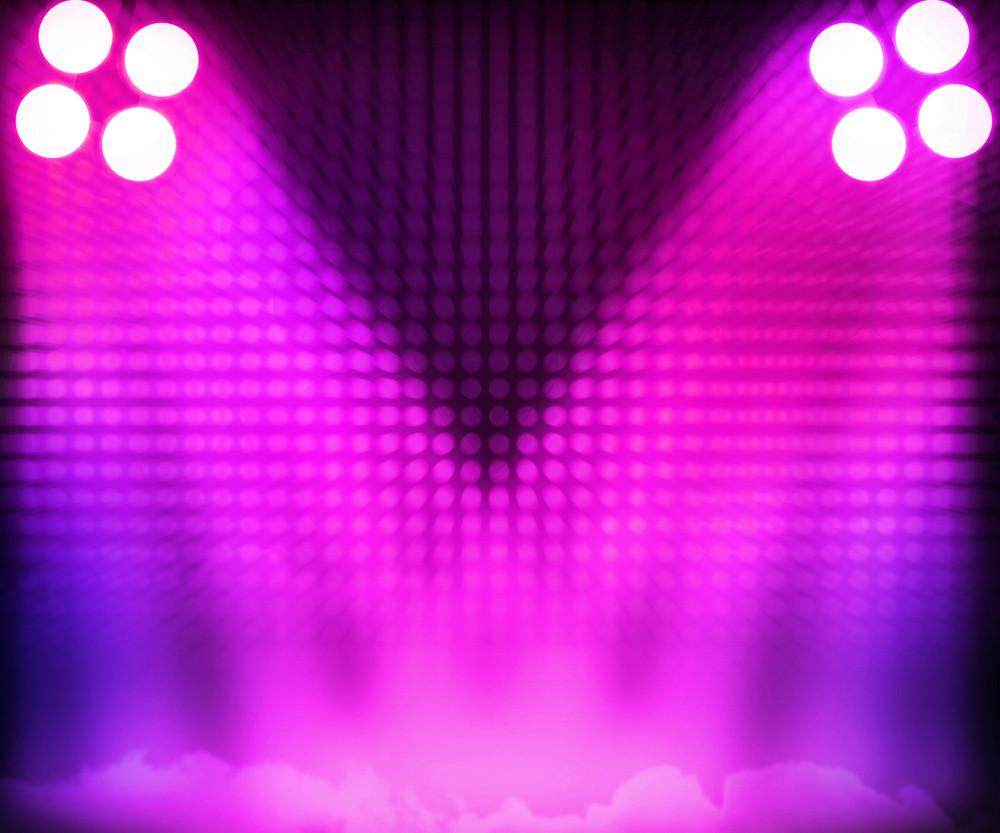 Pink Show Room Spotlights Stage Background