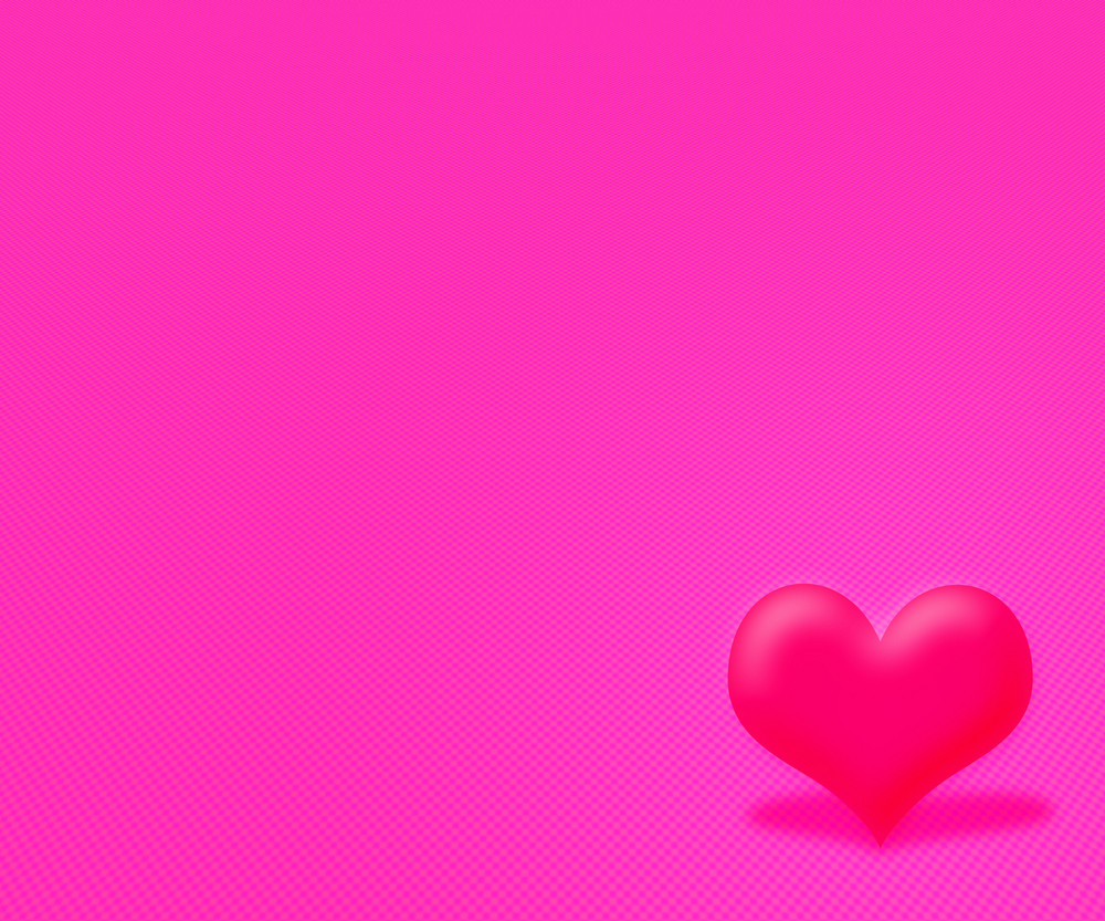 Pink Simple Valentine Background