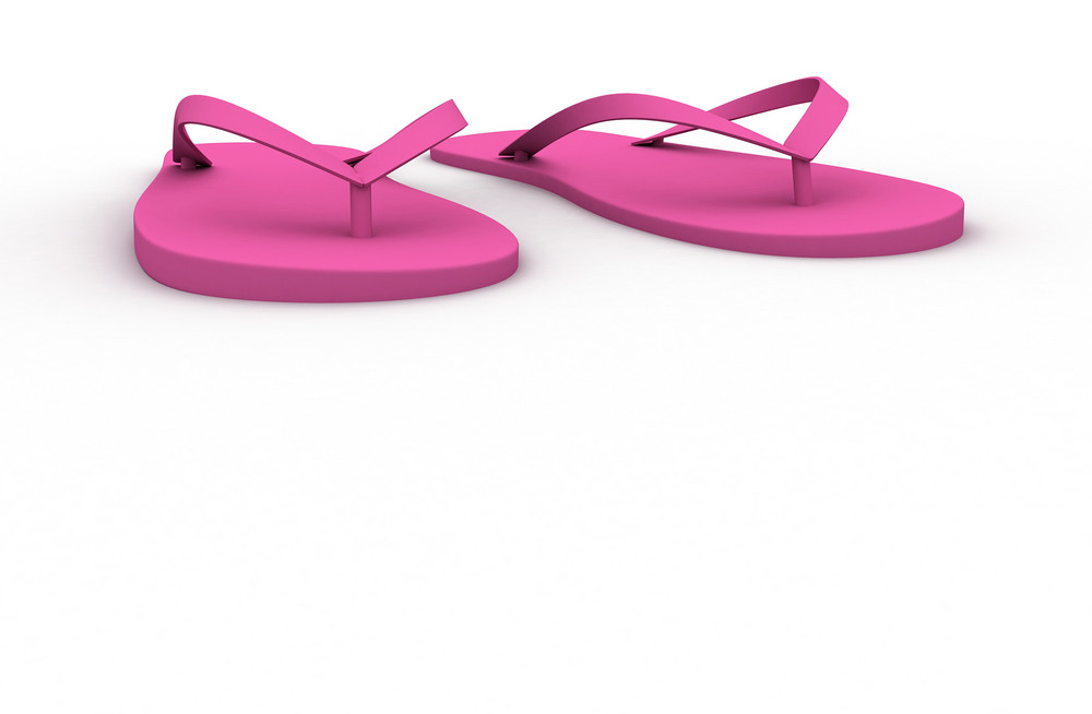 Pink Slippers Isolated