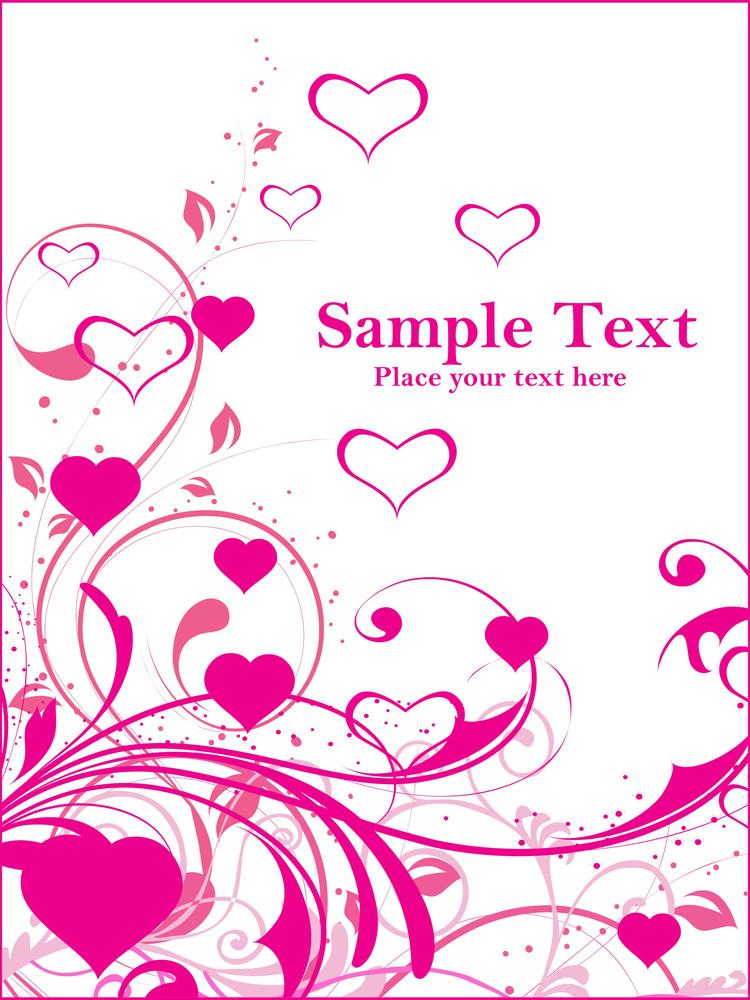 Pink Swirl Design Card