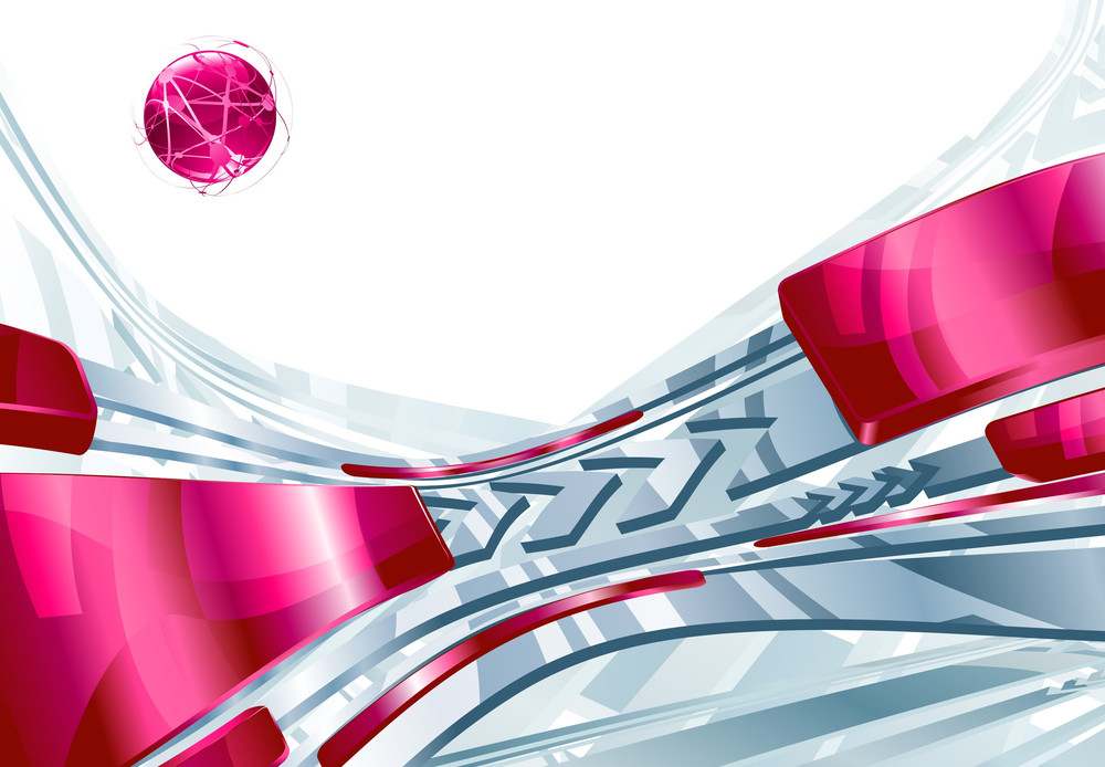 Pink Tech Background. Vector.