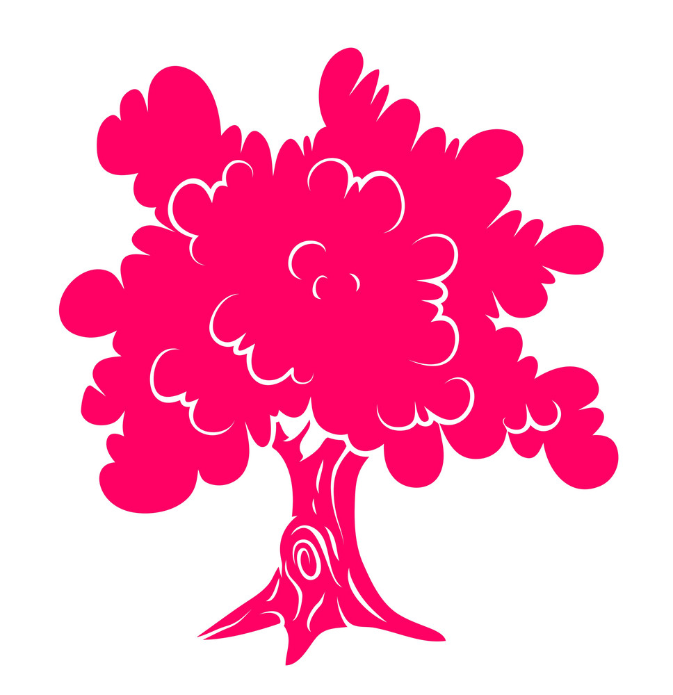 Pink Tree Shape