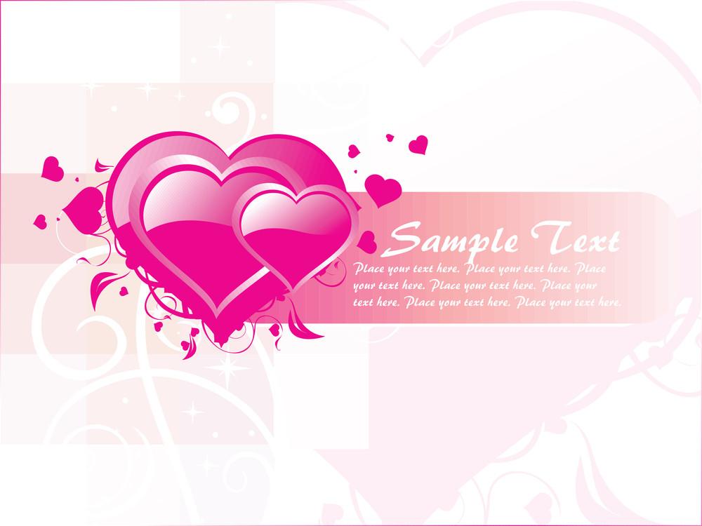 Pink Valentine Banner