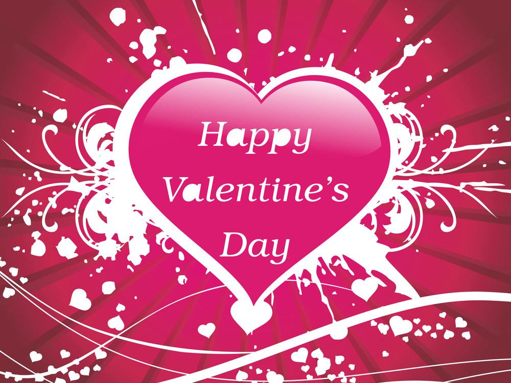 Pink Valentine Heart With Grunge