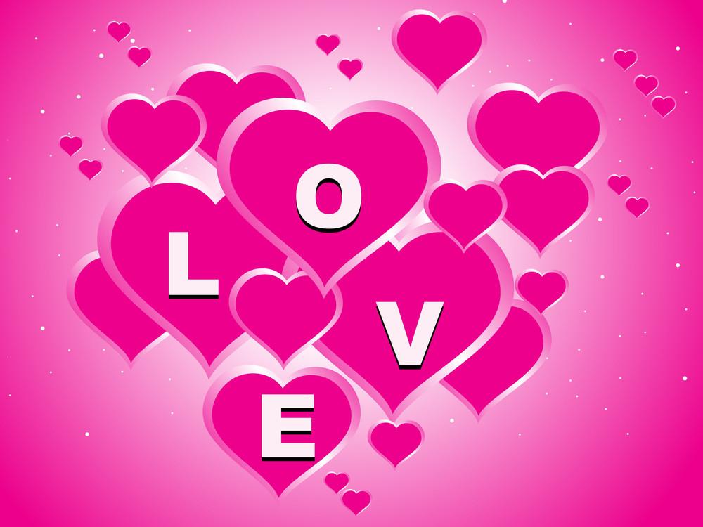 Pink Valentine Love Background