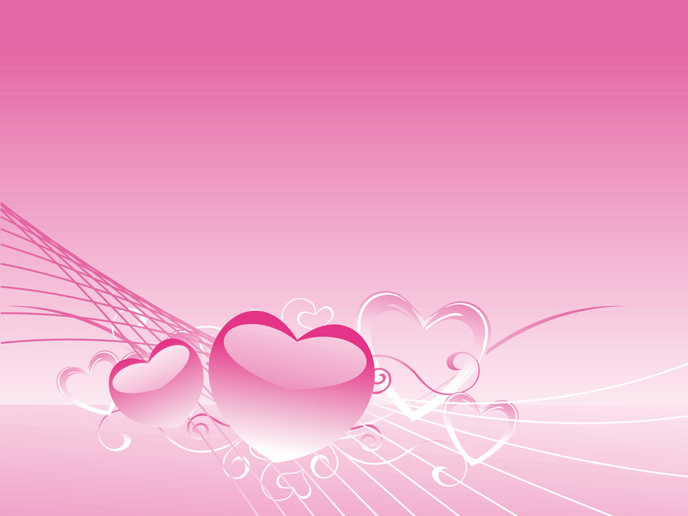 Pink Valentine's Postcard To Present Your Love