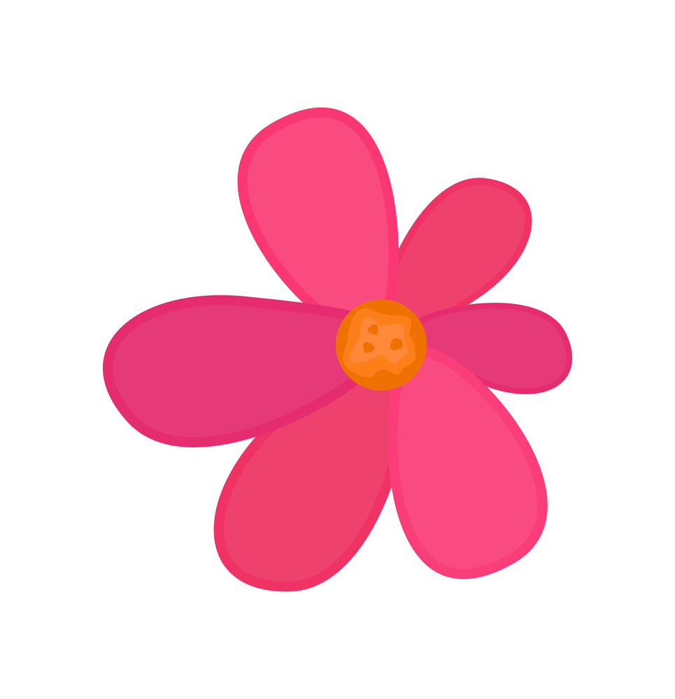 Pink Vector Flower Art