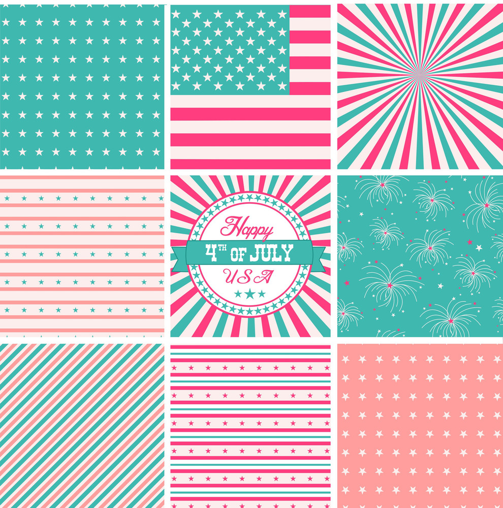 Pink White And Turquose