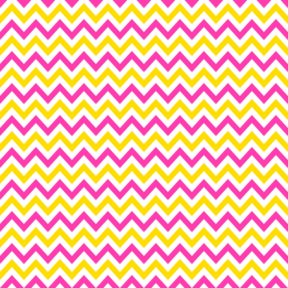 Pink, Yellow, And White Chevron Pattern