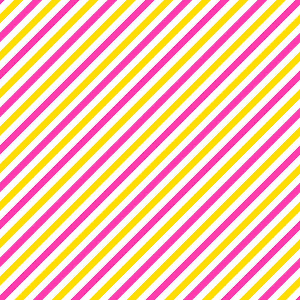 Pink, Yellow, And White Diagonal Stripes Pattern