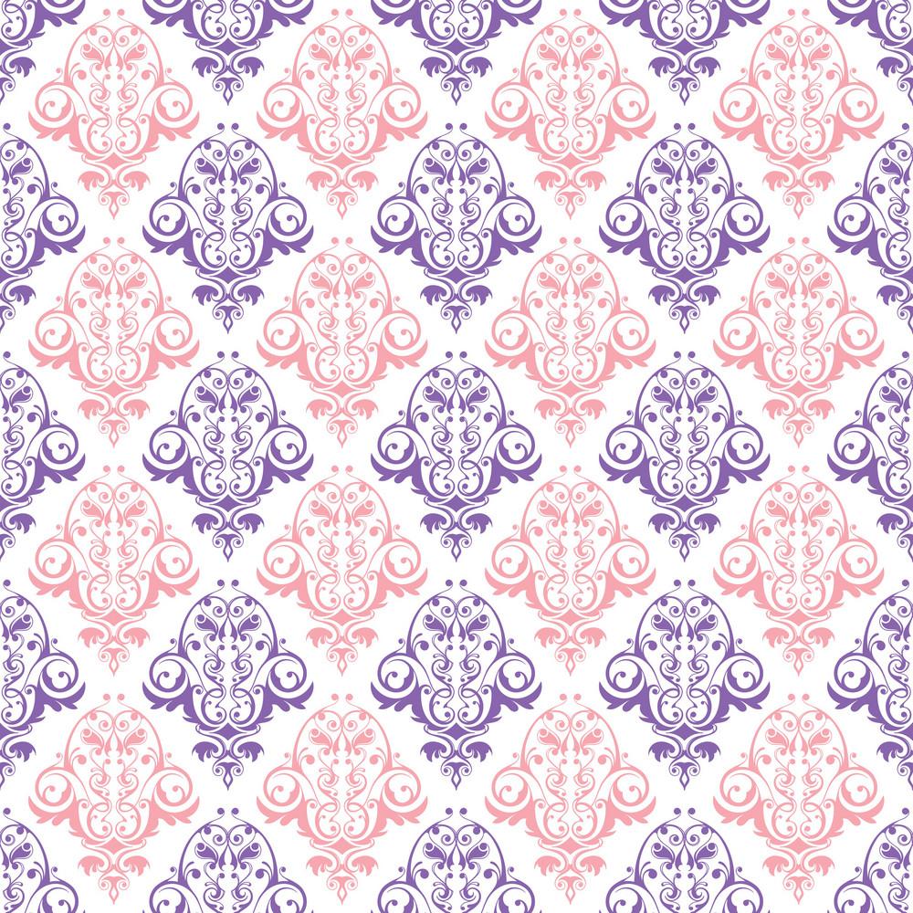 Pink And Purple Decorative Pattern