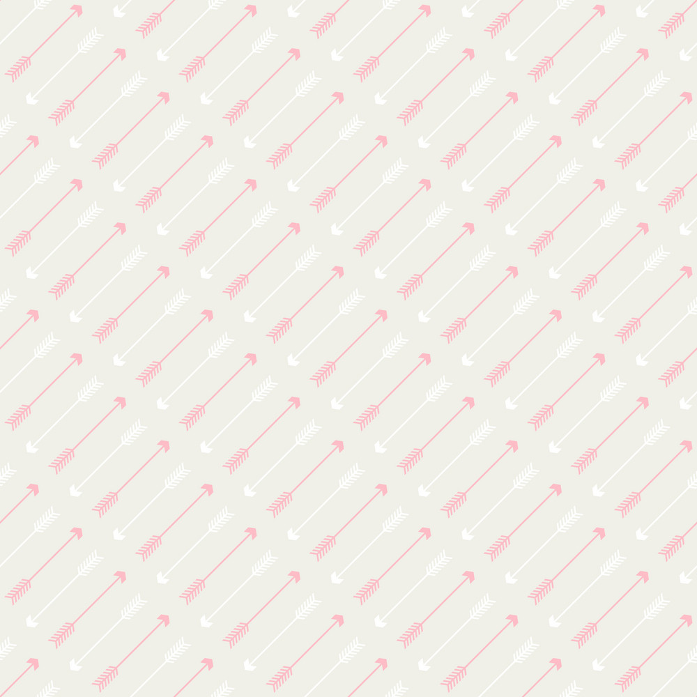 Pink Arrows Pattern On A Grey Background