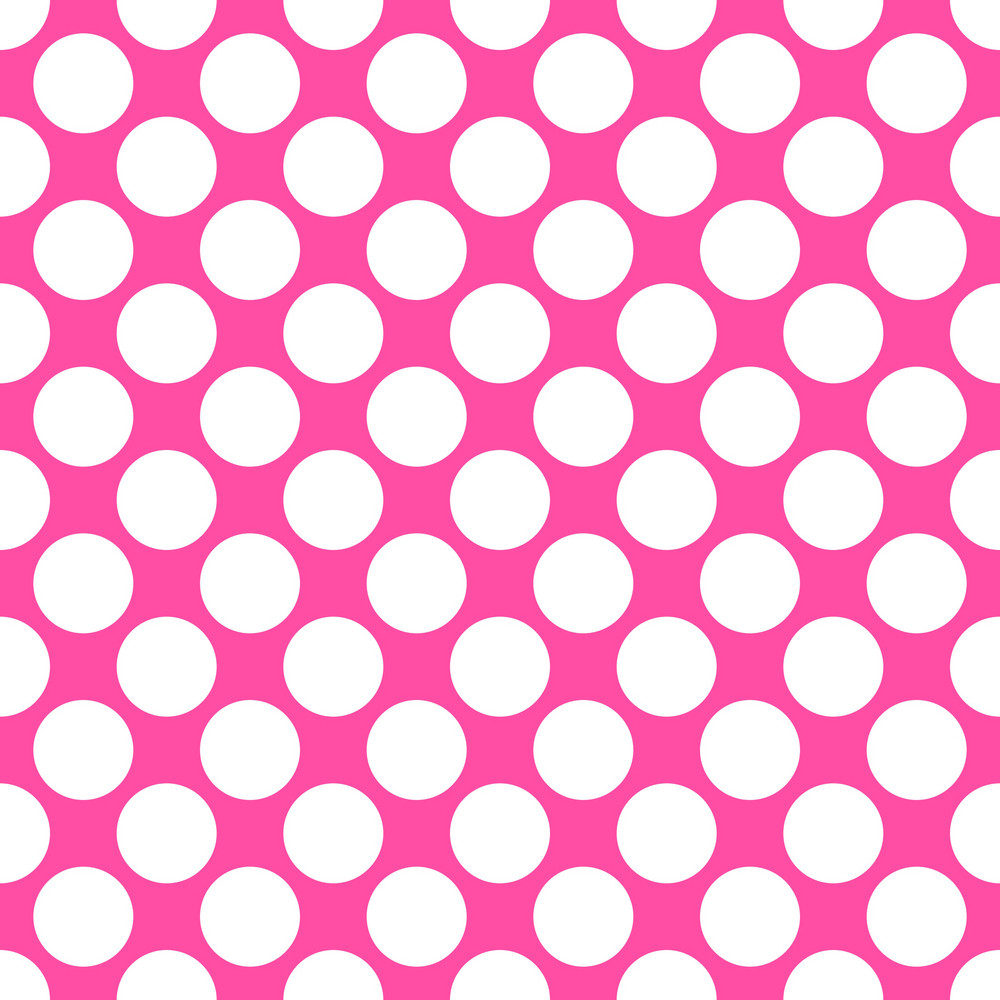 White Polka Dots Pattern On A Pink Background