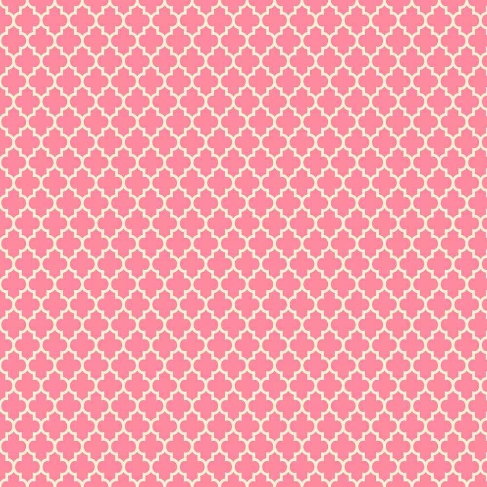 Pink Quatrefoil Pattern