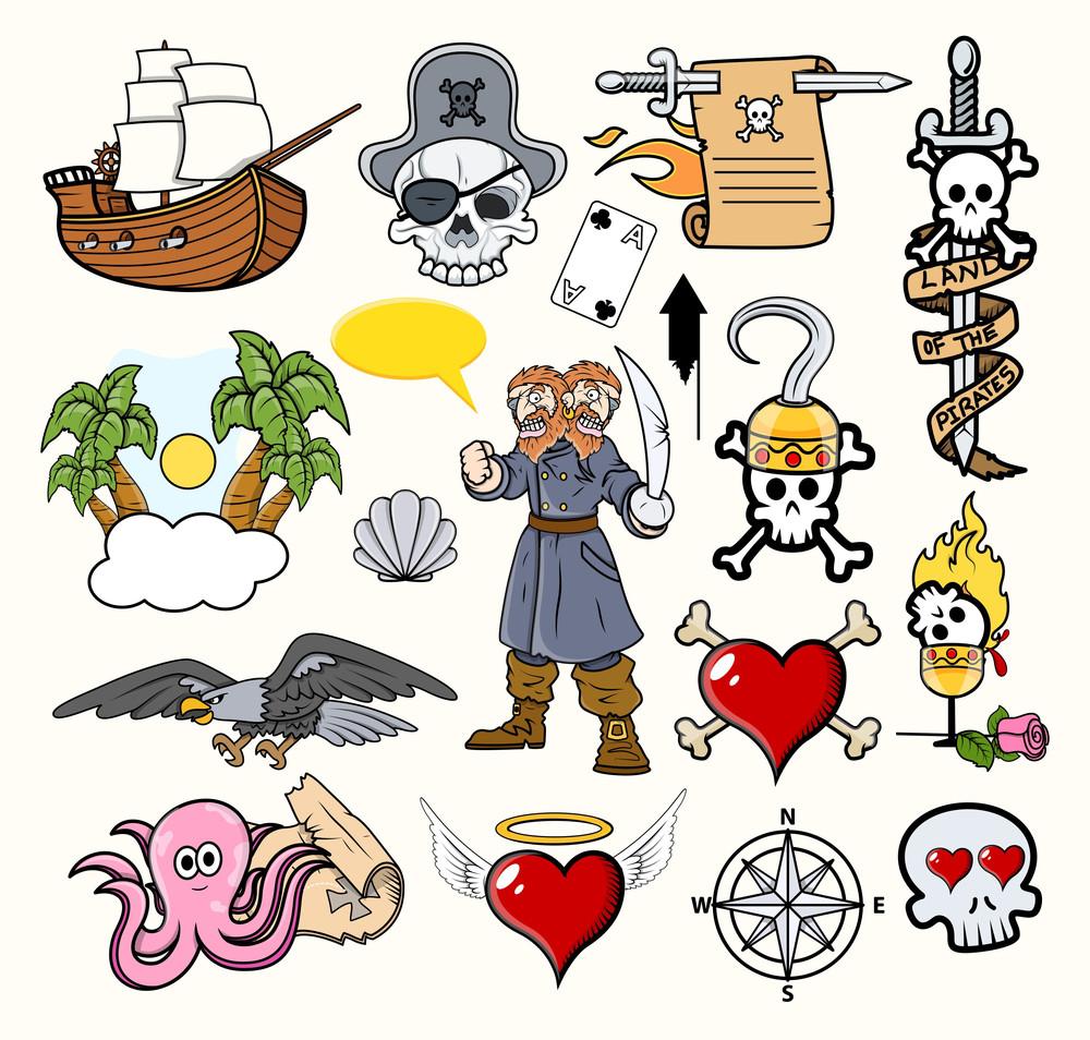 Pirate Cartoons Vectors
