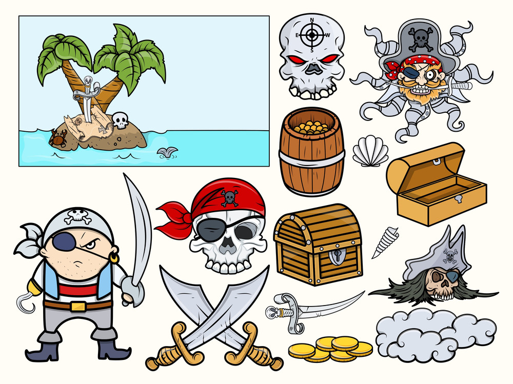 Pirate Illustrations Vector Set