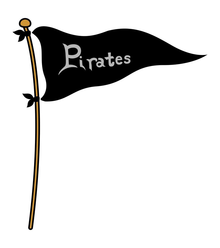 Pirates Flag - Cartoon Vector Illustration
