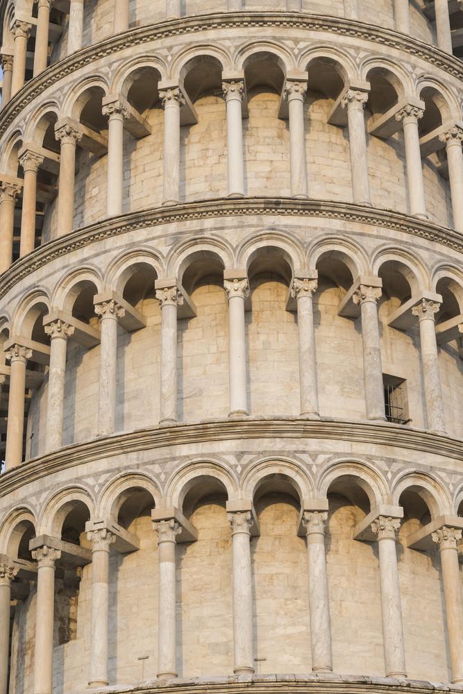 Pisa tower close up detail. Pisa, Italy