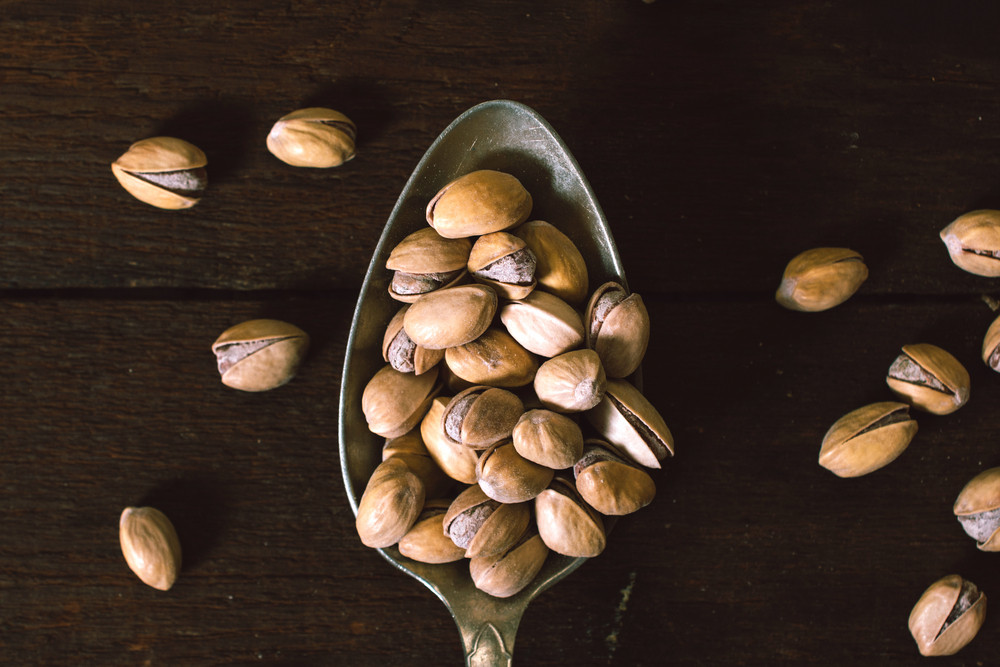 Pistachios In The Spoon