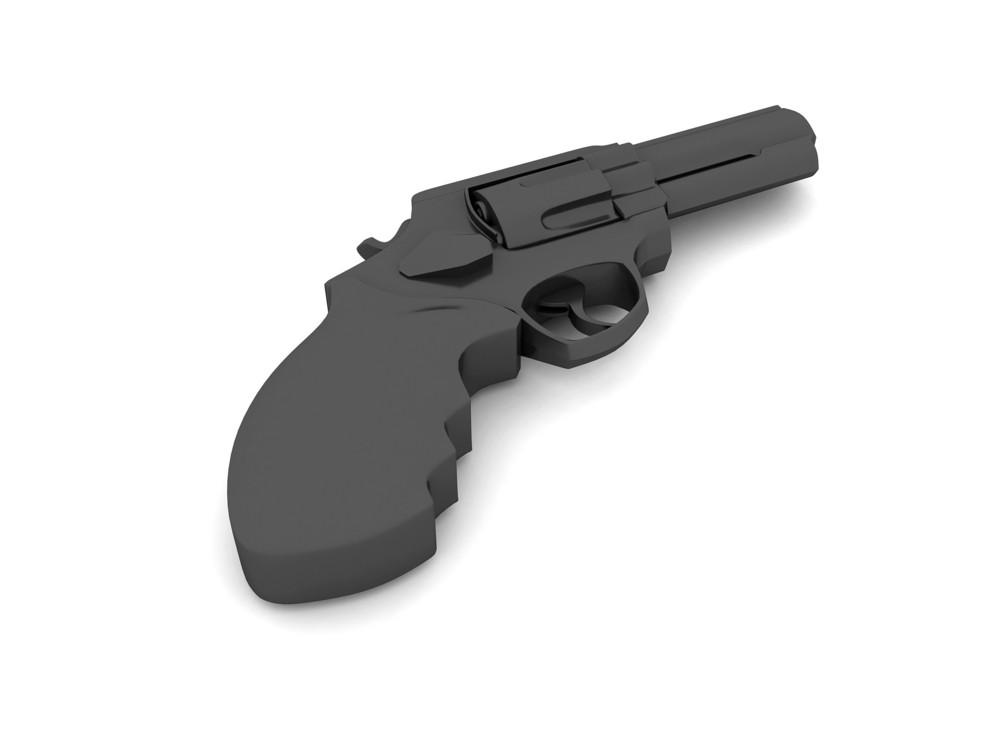 Pistol Isolated On White