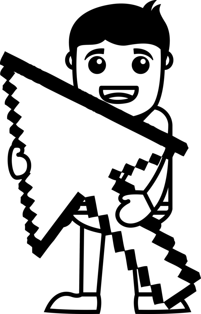 Pixel Arrow - Vector Illustration
