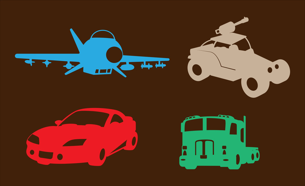 Plane Cars And Truck Shapes