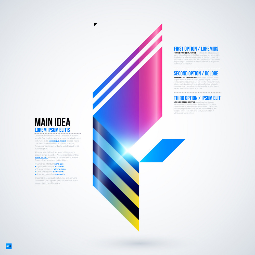 Futuristic Layout With Large Geometric Element. Useful For Presentations And Web Templates. Eps10 Vector