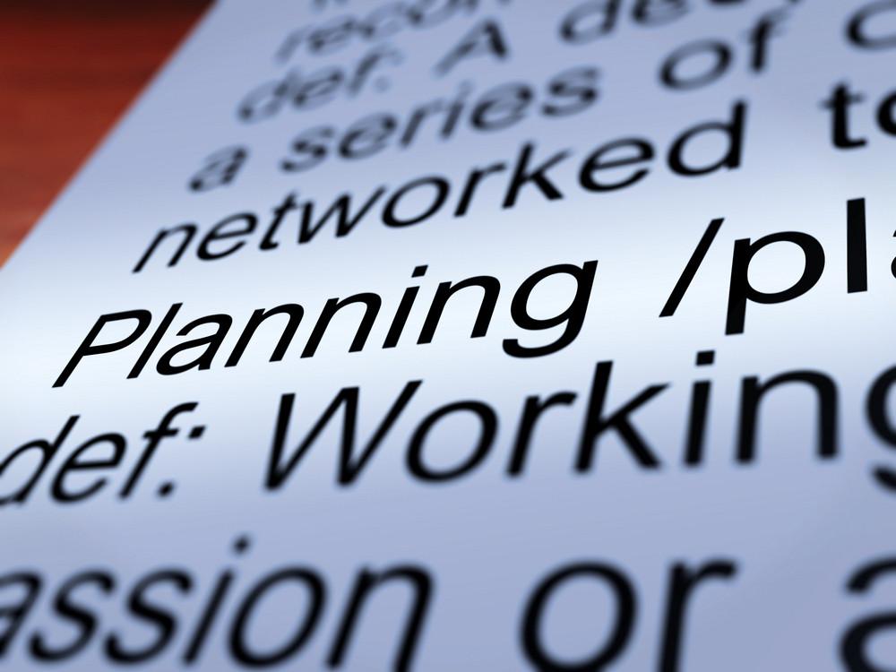Planning Definition Closeup Showing Organizing