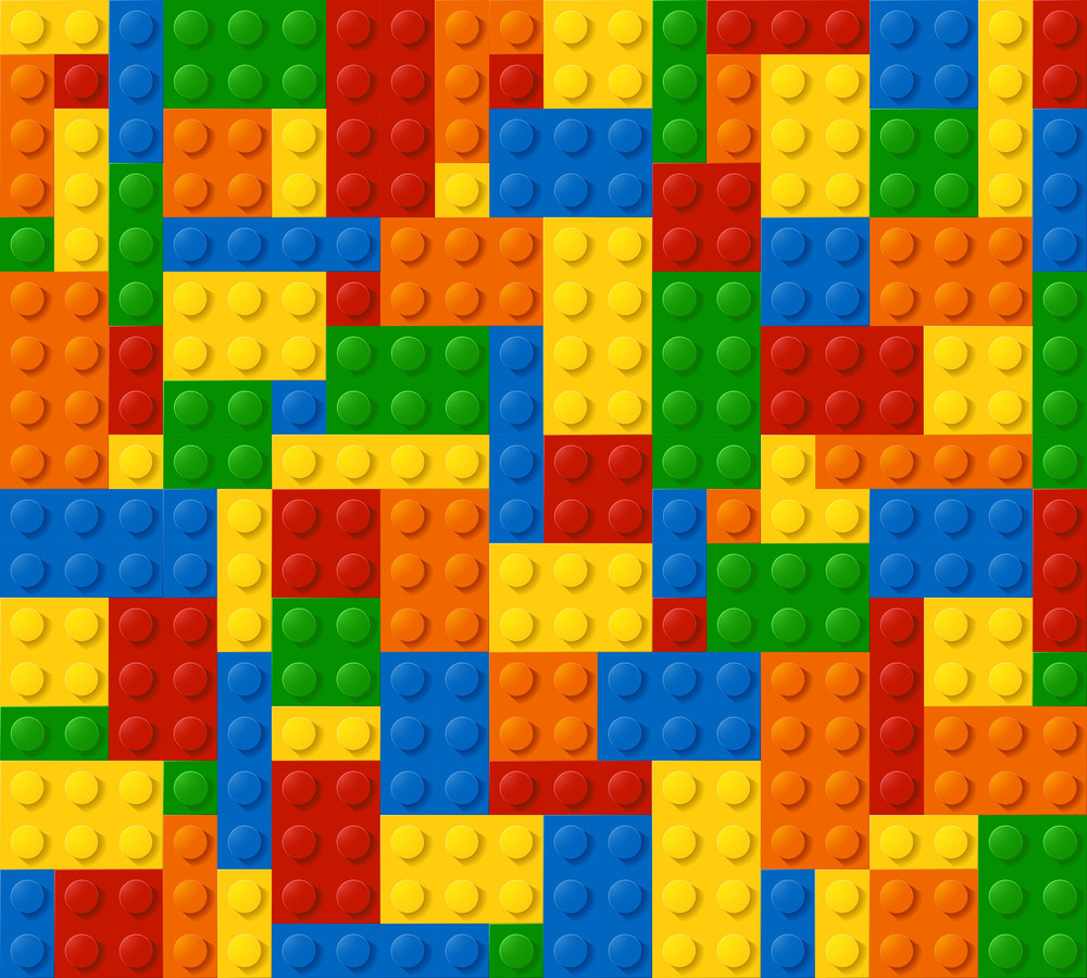 Plastic Blocks Seamless Vector Background