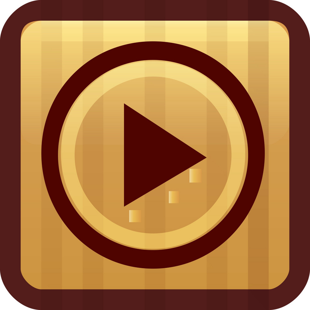 Play Button Brown Tiny App Icon
