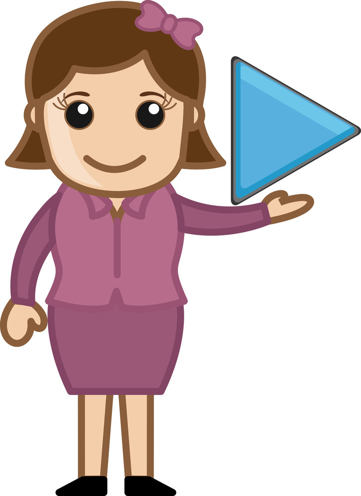 Play Button - Business Cartoons Vectors