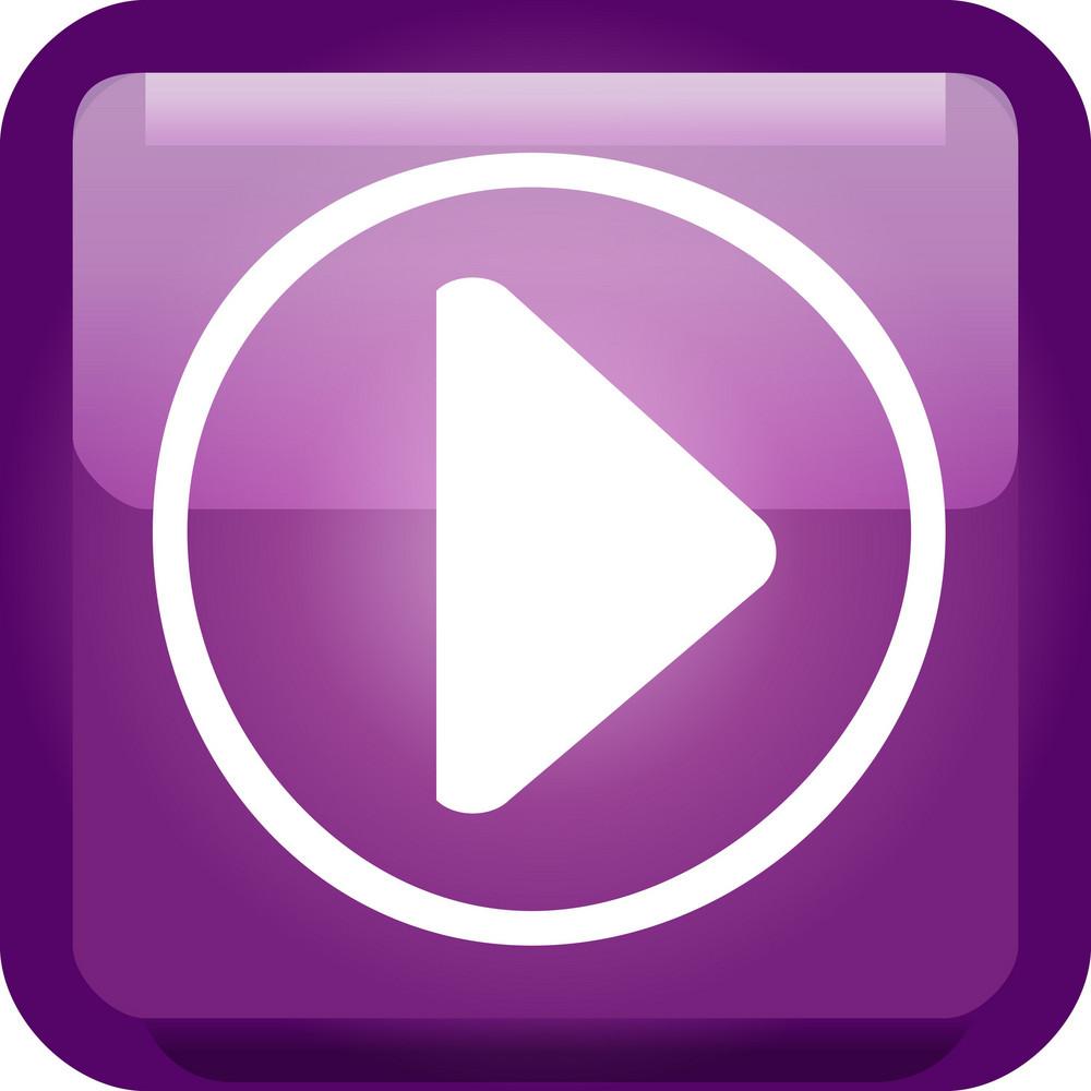 Play Button Purple Tiny App Icon