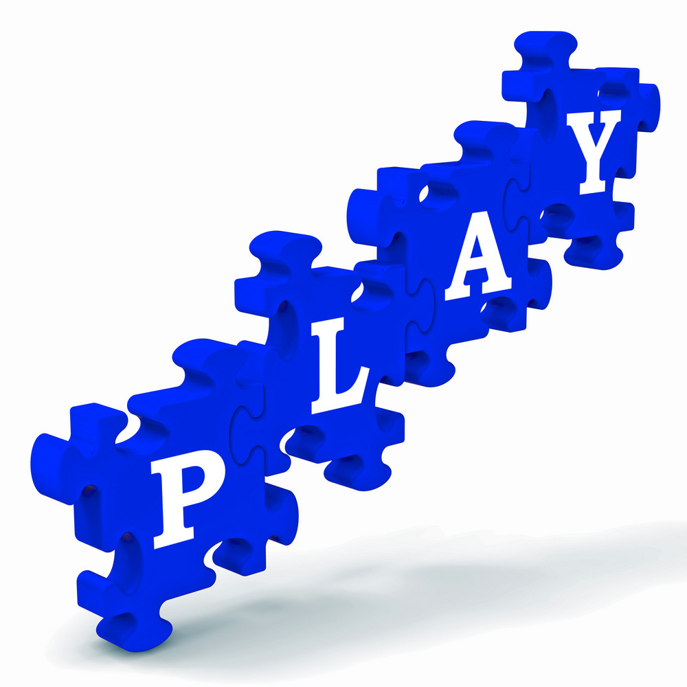 Play Puzzle Shows Kindergarten Playtime