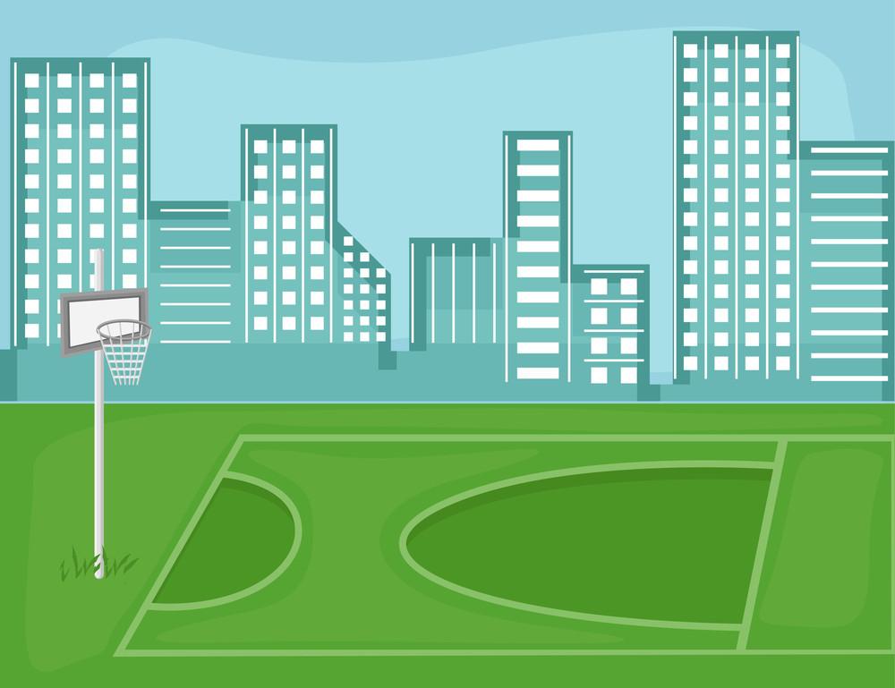 Playground - Cartoon Background Vector